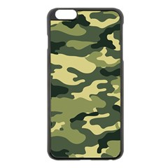 Camouflage Camo Pattern Apple Iphone 6 Plus/6s Plus Black Enamel Case by Simbadda