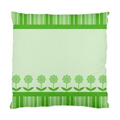 Floral Stripes Card In Green Standard Cushion Case (two Sides) by Simbadda