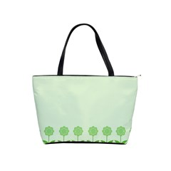 Floral Stripes Card In Green Shoulder Handbags