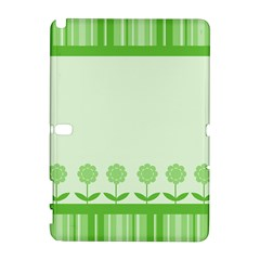 Floral Stripes Card In Green Galaxy Note 1