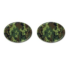 Military Camouflage Pattern Cufflinks (oval) by Simbadda