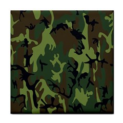 Military Camouflage Pattern Face Towel by Simbadda