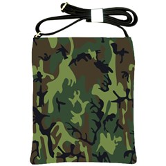 Military Camouflage Pattern Shoulder Sling Bags by Simbadda