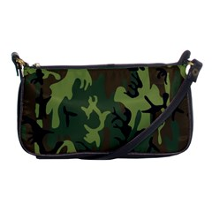 Military Camouflage Pattern Shoulder Clutch Bags by Simbadda