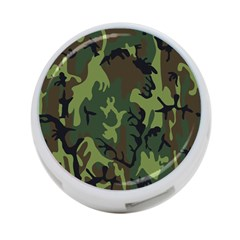 Military Camouflage Pattern 4 Port Usb Hub (one Side)