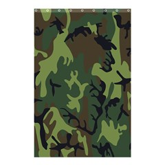 Military Camouflage Pattern Shower Curtain 48  X 72  (small)  by Simbadda