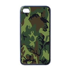 Military Camouflage Pattern Apple Iphone 4 Case (black)