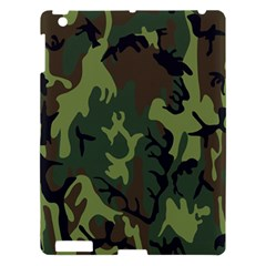 Military Camouflage Pattern Apple Ipad 3/4 Hardshell Case by Simbadda