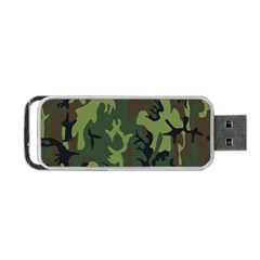 Military Camouflage Pattern Portable Usb Flash (one Side) by Simbadda