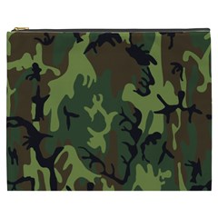 Military Camouflage Pattern Cosmetic Bag (xxxl)  by Simbadda