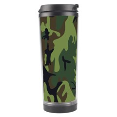 Military Camouflage Pattern Travel Tumbler by Simbadda
