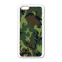 Military Camouflage Pattern Apple Iphone 6/6s White Enamel Case