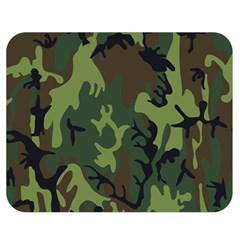 Military Camouflage Pattern Double Sided Flano Blanket (medium)