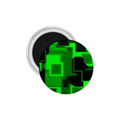 Green Cyber Glow Pattern 1 75  Magnets