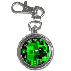 Green Cyber Glow Pattern Key Chain Watches