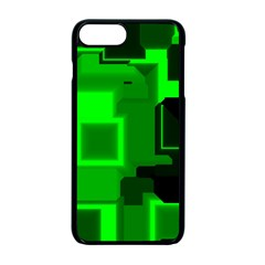 Green Cyber Glow Pattern Apple Iphone 7 Plus Seamless Case (black) by Simbadda