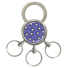 Rockets In The Blue Sky Surrounded 3 Ring Key Chains by Simbadda