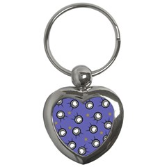 Rockets In The Blue Sky Surrounded Key Chains (heart)  by Simbadda
