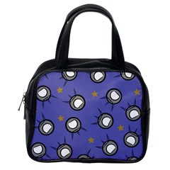 Rockets In The Blue Sky Surrounded Classic Handbags (one Side) by Simbadda