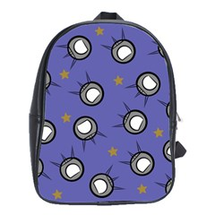 Rockets In The Blue Sky Surrounded School Bags(large)  by Simbadda