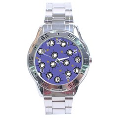 Rockets In The Blue Sky Surrounded Stainless Steel Analogue Watch