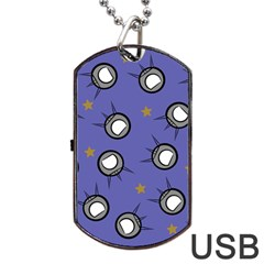 Rockets In The Blue Sky Surrounded Dog Tag Usb Flash (two Sides) by Simbadda