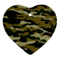 Military Vector Pattern Texture Heart Ornament (two Sides) by Simbadda