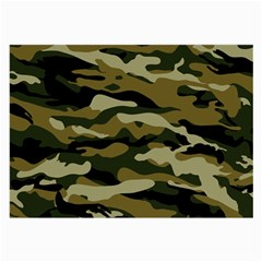 Military Vector Pattern Texture Large Glasses Cloth (2-side) by Simbadda
