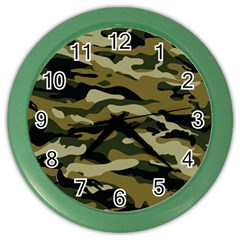 Military Vector Pattern Texture Color Wall Clocks by Simbadda