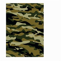 Military Vector Pattern Texture Large Garden Flag (two Sides) by Simbadda