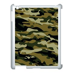 Military Vector Pattern Texture Apple Ipad 3/4 Case (white) by Simbadda