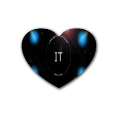This Is An It Logo Rubber Coaster (heart)  by Simbadda