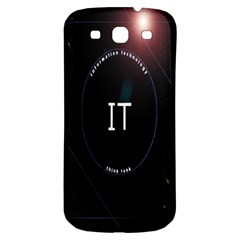 This Is An It Logo Samsung Galaxy S3 S Iii Classic Hardshell Back Case by Simbadda
