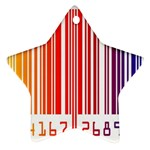 Colorful Gradient Barcode Ornament (Star) Front
