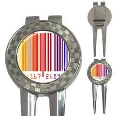 Colorful Gradient Barcode 3 In 1 Golf Divots by Simbadda