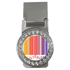 Colorful Gradient Barcode Money Clips (cz)  by Simbadda