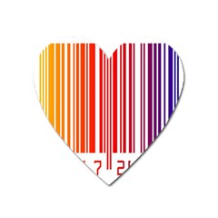 Colorful Gradient Barcode Heart Magnet by Simbadda
