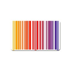Colorful Gradient Barcode Magnet (name Card)