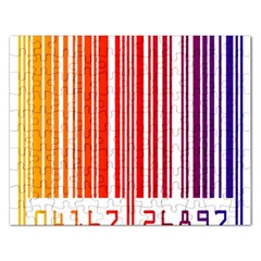 Colorful Gradient Barcode Rectangular Jigsaw Puzzl by Simbadda