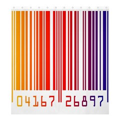 Colorful Gradient Barcode Shower Curtain 66  X 72  (large)