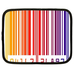 Colorful Gradient Barcode Netbook Case (xl)  by Simbadda