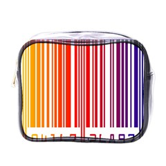 Colorful Gradient Barcode Mini Toiletries Bags by Simbadda