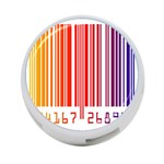 Colorful Gradient Barcode 4-Port USB Hub (Two Sides)  Back