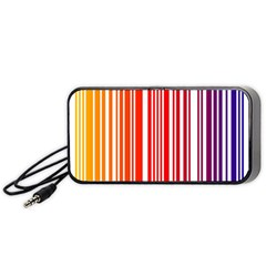 Colorful Gradient Barcode Portable Speaker (black) by Simbadda