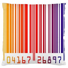 Colorful Gradient Barcode Large Cushion Case (one Side) by Simbadda