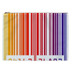 Colorful Gradient Barcode Cosmetic Bag (xxl)  by Simbadda