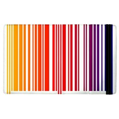 Colorful Gradient Barcode Apple Ipad 2 Flip Case by Simbadda