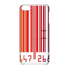 Colorful Gradient Barcode Apple Ipod Touch 5 Hardshell Case With Stand by Simbadda