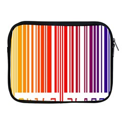 Colorful Gradient Barcode Apple Ipad 2/3/4 Zipper Cases by Simbadda