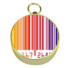 Colorful Gradient Barcode Gold Compasses by Simbadda